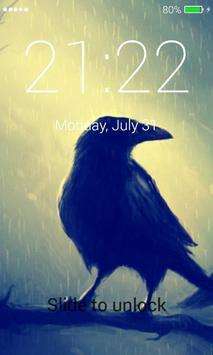 Black Raven Lock Screen screenshot 1