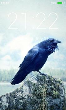 Black Raven Lock Screen screenshot 2