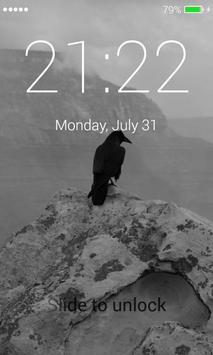 Black Raven Lock Screen screenshot 3