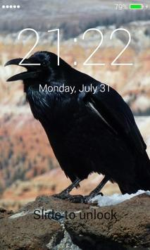 Black Raven Lock Screen screenshot 4