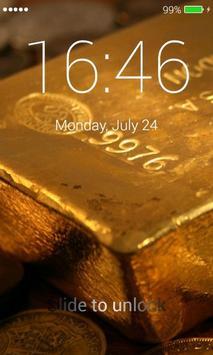 Gold Lock Screen poster