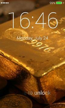 Gold Lock Screen screenshot 2