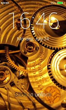 Gold Lock Screen apk screenshot