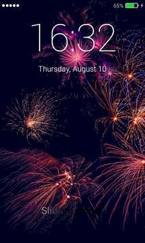 Firework Lock Screen Pro poster