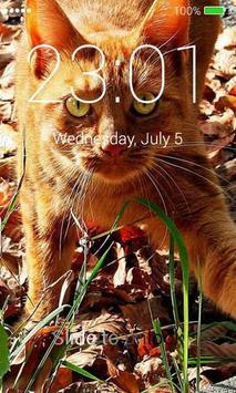 Orange Cats Lock Screen screenshot 2