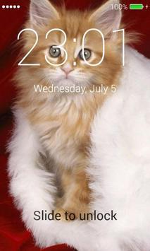 Orange Cats Lock Screen screenshot 3