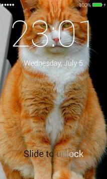 Orange Cats Lock Screen screenshot 4