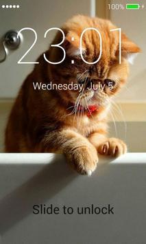 Orange Cats Lock Screen screenshot 8