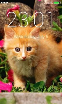 Orange Cats Lock Screen screenshot 9