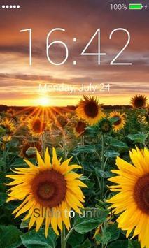 Sunflowers Lock Screen screenshot 2