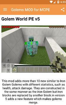 Golems MOD for MCPE! screenshot 1