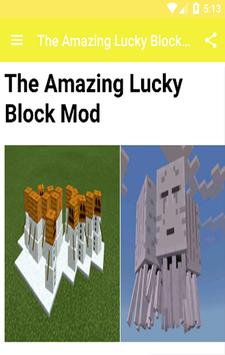 lucky block Mods For MCPE! screenshot 2