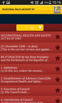 Occupational Health and Safety Act apk screenshot