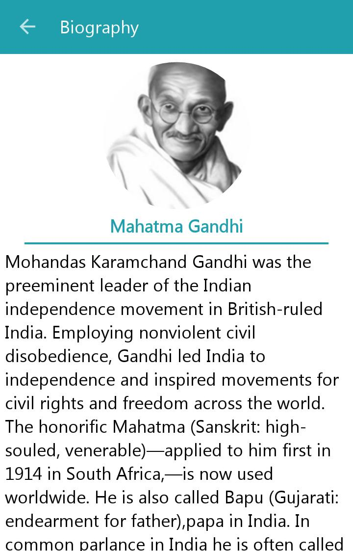 Mahatma Gandhi Quotes English For Android Apk Download