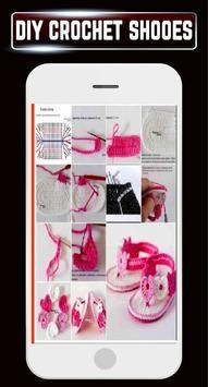 DIY Crochet Shoes Baby Booties Slippers Home Ideas apk screenshot