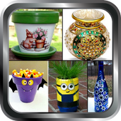 Pot Painting Home Crafts Project Ideas Designs DIY icon