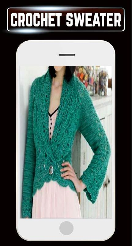 1cb6e1ee1e562a DIY Crochet Baby Sweater Women Cardigan Patterns for Android - APK ...