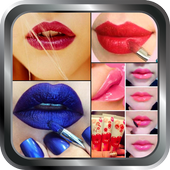DIY Lip Makeup Girl Steps Home Idea Design Gallery icon