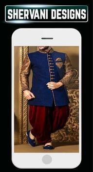 Indain Sherwani Design Groom Wedding Mensuits Idea screenshot 4