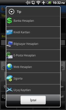 Şifre Yöneticisi Free apk screenshot