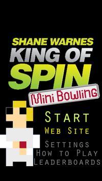 Shane Warne - KoS Mini Bowling poster