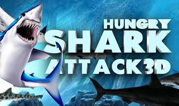 Hungry shark Attack 3D poster