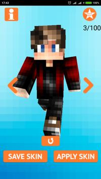 Cool Boy Skins for Minecraft poster