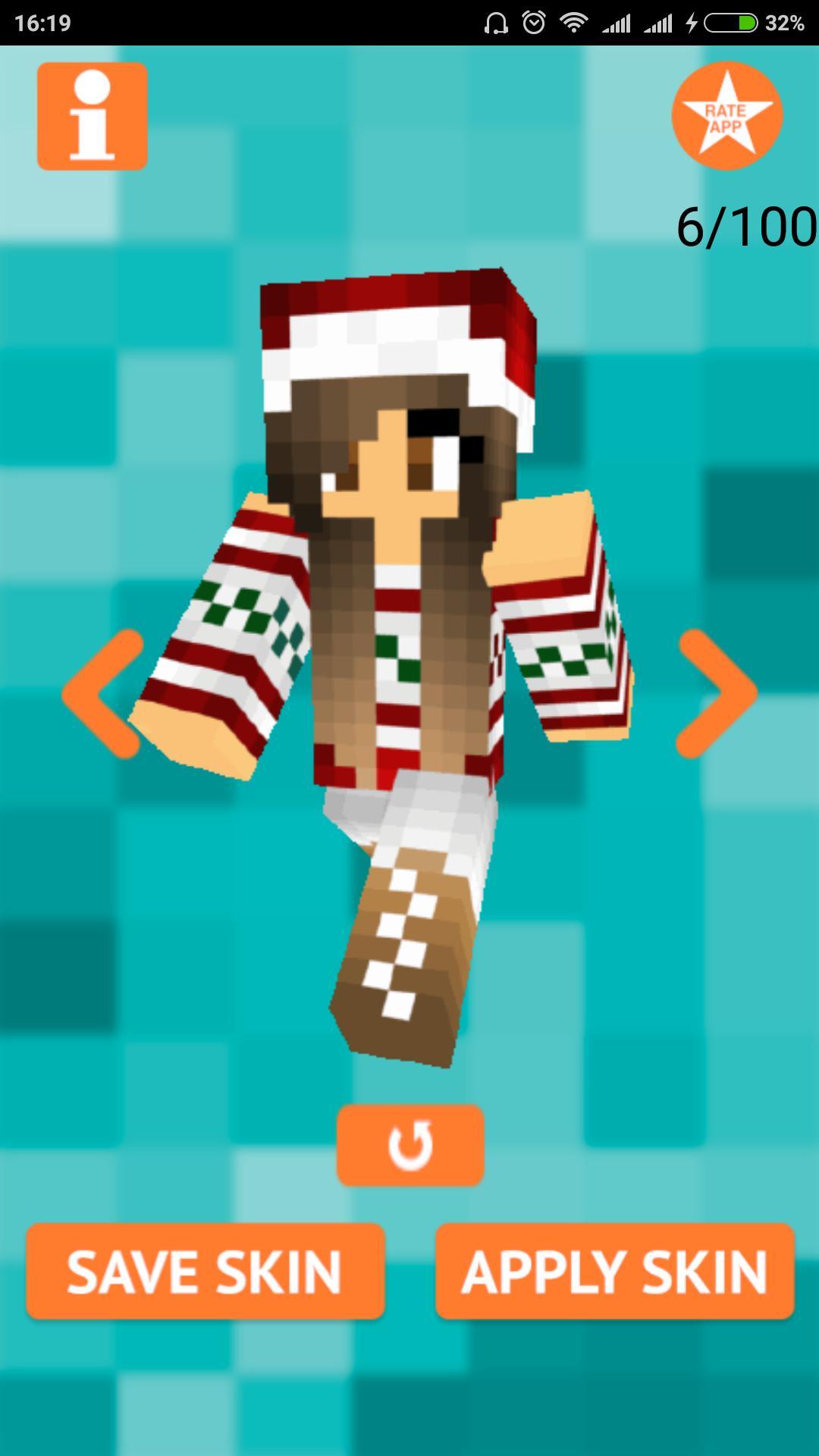 Christmas Minecraft Skin Girl.Christmas Girl Skin For Mcpe For Android Apk Download