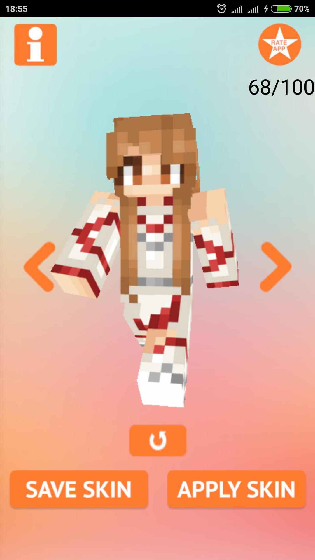 Anime Girl Skins for Minecraft para Android - APK Baixar