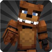 Skins FNAF for Minecraft PE ícone
