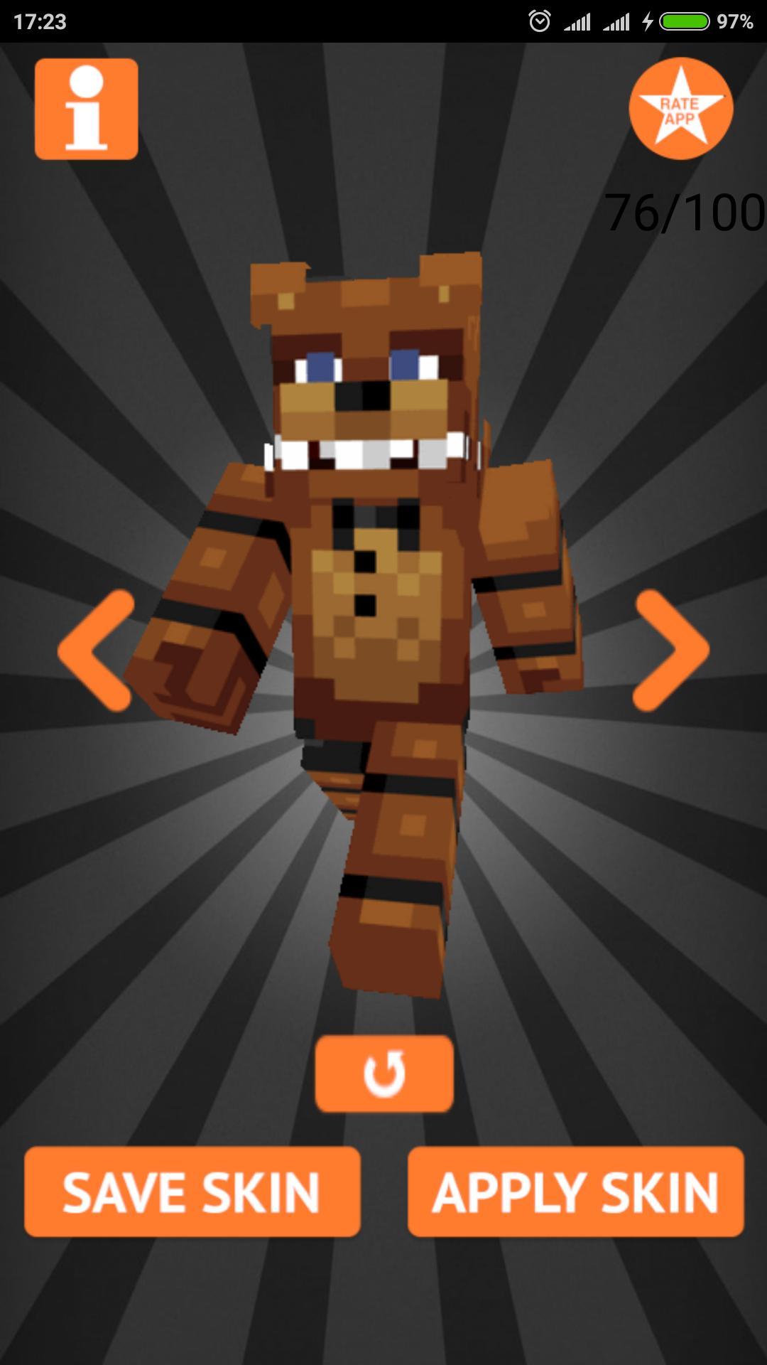 Skins FNAF for Minecraft PE para Android - APK Baixar
