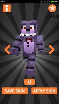 Skins FNAF for Minecraft PE imagem de tela 1
