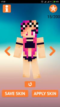 Skins Girl In Swimsuit For Minecraft For Android APK Download - Skin para minecraft pe bikini