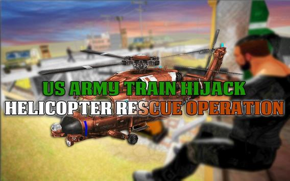 US Army Train Hijack: Helicopter Rescue Operation screenshot 4
