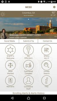 Muscogee County Sheriff poster