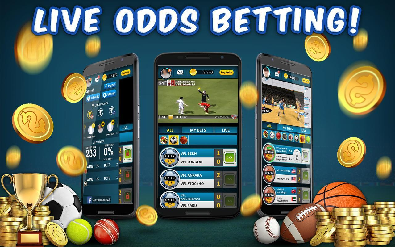 Virtual sports betting app ufc betting lines explained in spanish