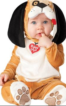 Tile Puzzle Cute Baby Costumes poster