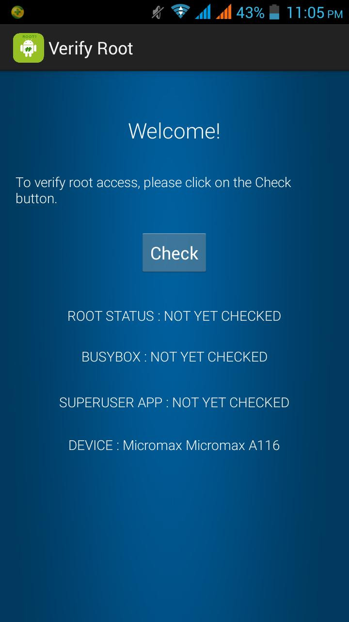 Verify Root for Android - APK Download