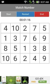 Memory Match Numbers apk screenshot