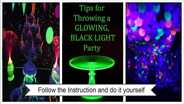 Cool Glow in the Dark Party Ideas apk screenshot