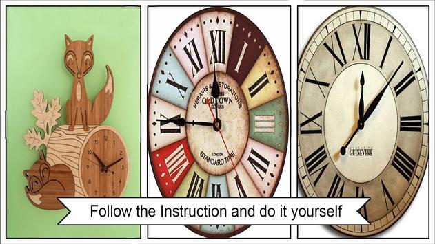 Easy DIY Chevron Wall Clock apk screenshot
