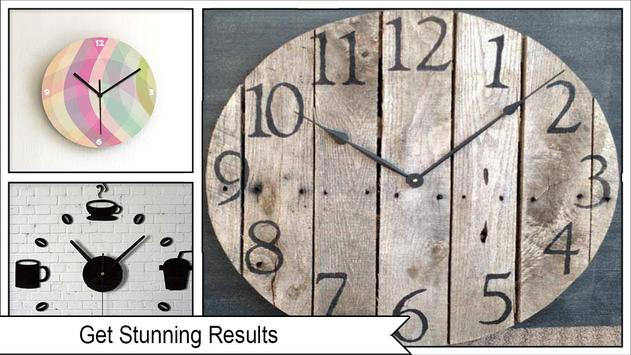 Easy DIY Chevron Wall Clock screenshot 3