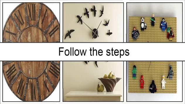 Easy DIY Chevron Wall Clock screenshot 4