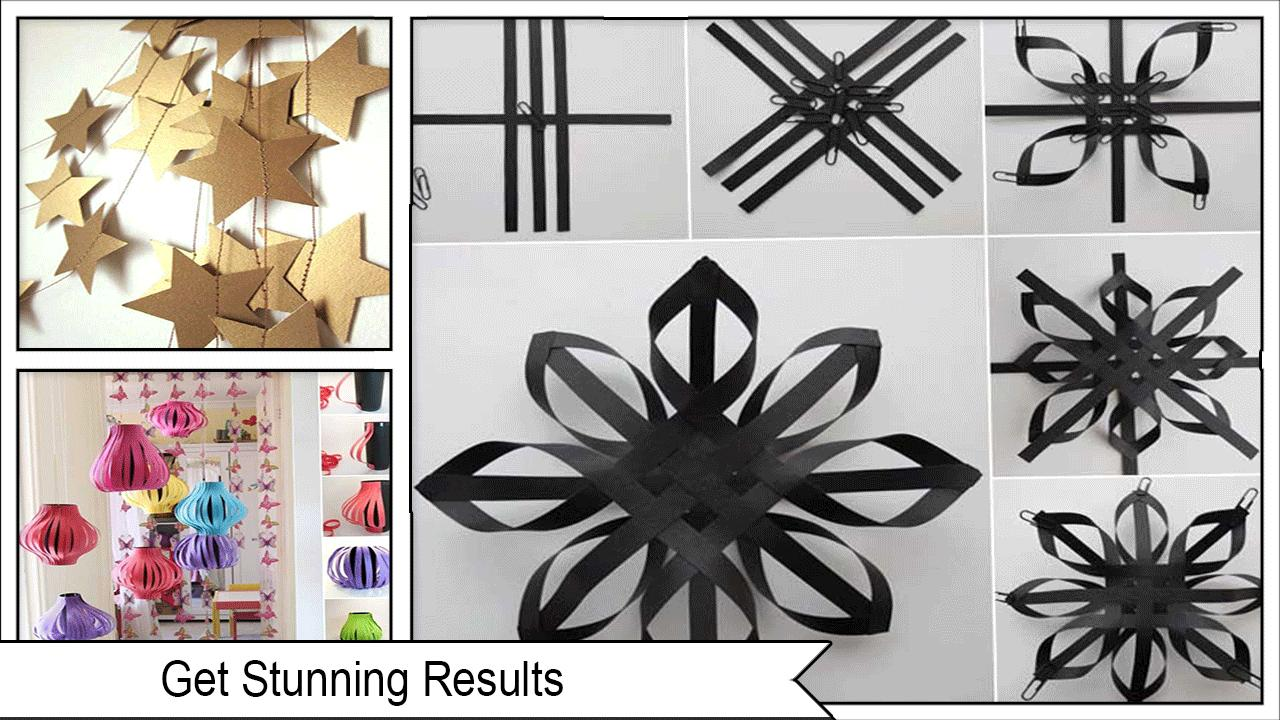New DIY Paper Decoration Ideas poster