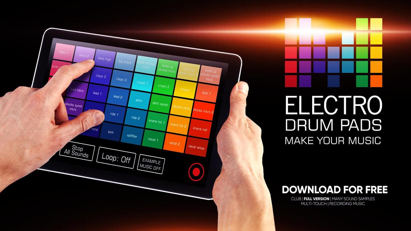 electro drum pads loops dj for android apk download. Black Bedroom Furniture Sets. Home Design Ideas