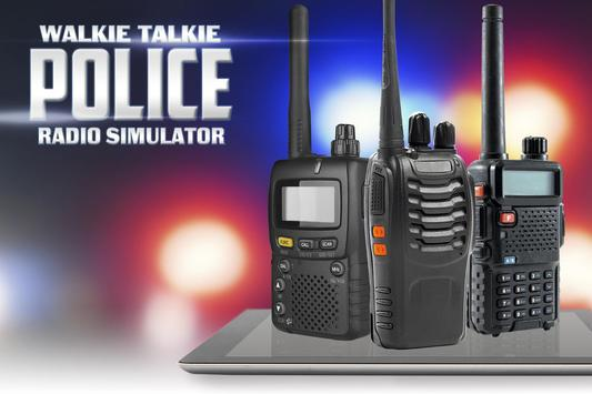 Police walkie-talkie radio sim poster