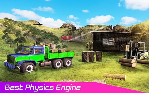Pickup Truck : 4x4 Uphill Cargo Drive Simulator 3D screenshot 6