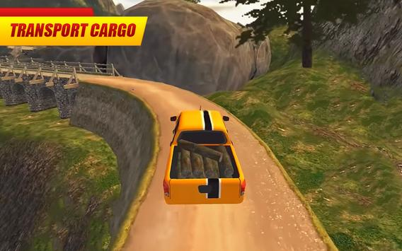Offroad Pickup Truck : 4x4 Cargo Delivery Drive 3D screenshot 3