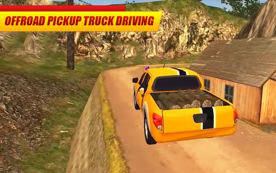 Offroad Pickup Truck : 4x4 Cargo Delivery Drive 3D poster