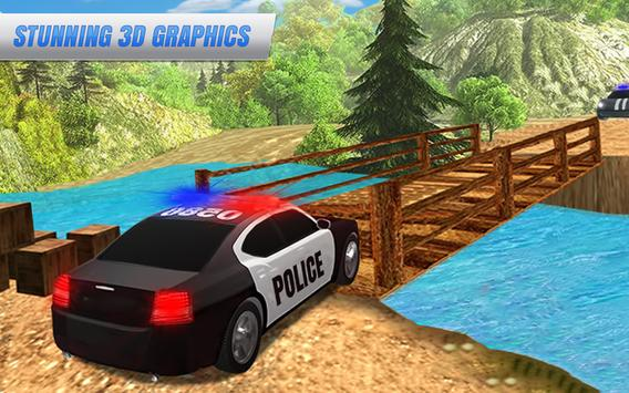 Offroad Police Car: Crime City Cop Drive Simulator poster
